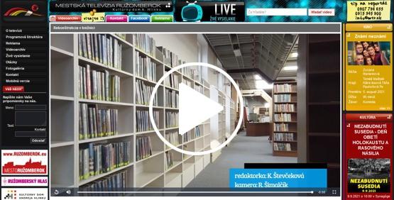 Video príspevok Mestskej televízie Ružomberok