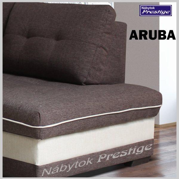 ARUBA rohová sedacia súprava hnedá detail otoman