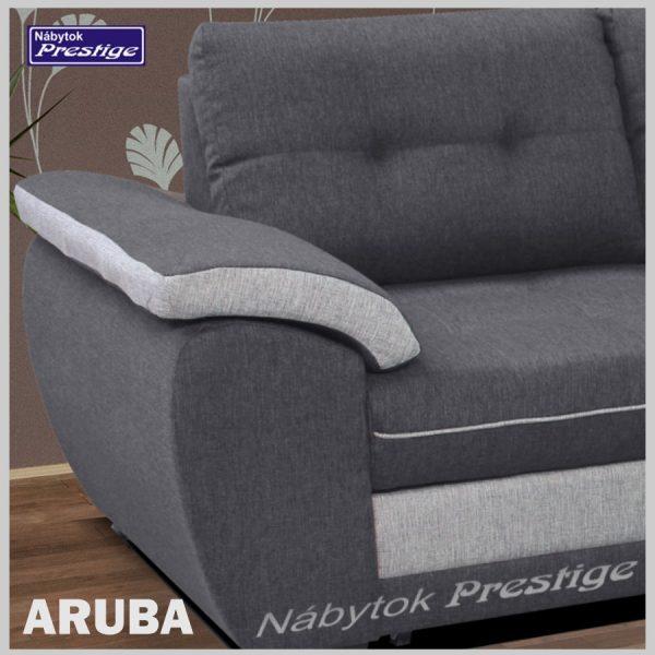ARUBA rohová sedacia súprava sivá detail madlo