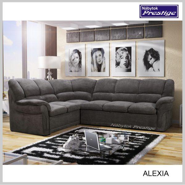 Alexia rohová sedačka grafit
