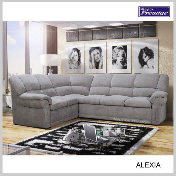 Alexia rohová sedačka sivá