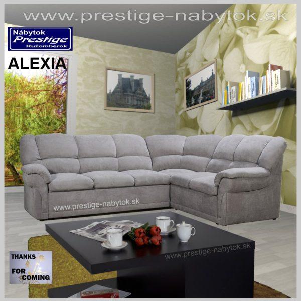 Alexia sedacia súprava rohová sivá