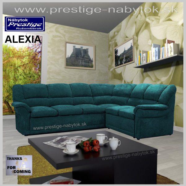 Alexia sedacia súprava rohová zelená