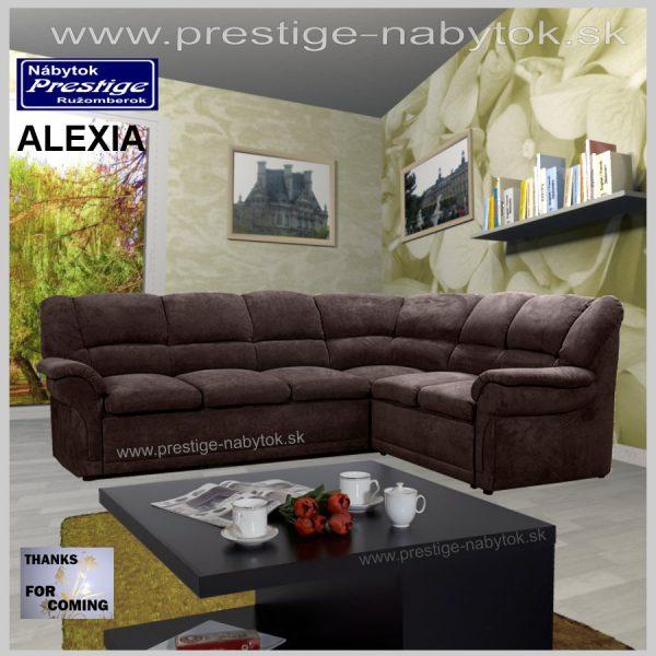 Alexia sedačka rohová hnedá