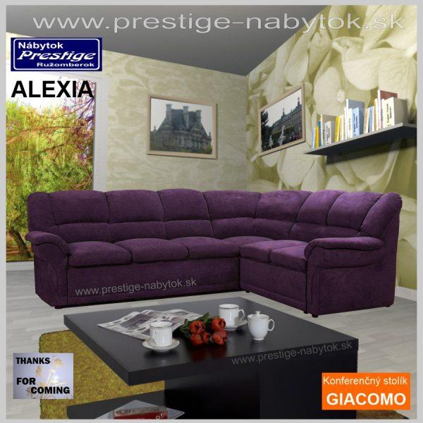 Alexia sedačka rohová +konferenčný stolík Giacomo