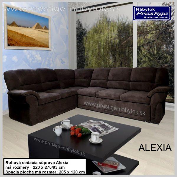 Alexia sedačka rohová rozkladacia hnedá