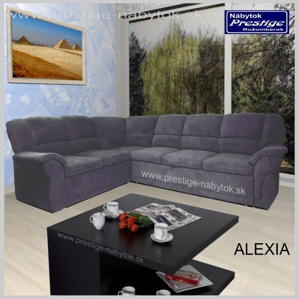 Alexia sedačka rohová rozkladacia sivá