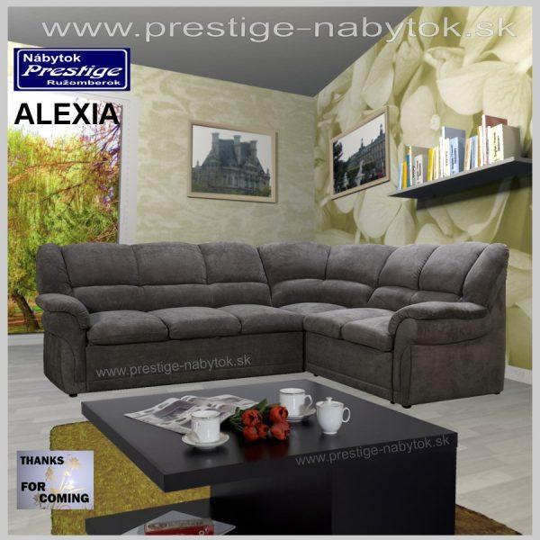 Alexia sedačka rohová sivá