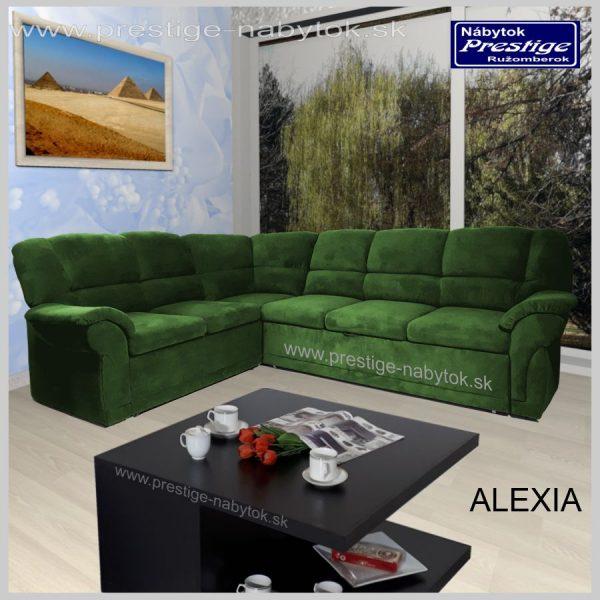 Alexia sedačka rohová zelená