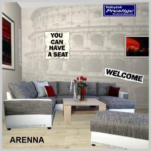Arena U sedacia súprava tvar U sivá
