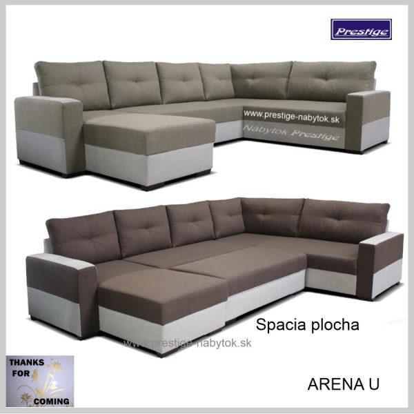 Arena sedacia súprava Tvar U spacia plocha
