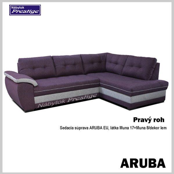 Aruba rohová sedačka fialová