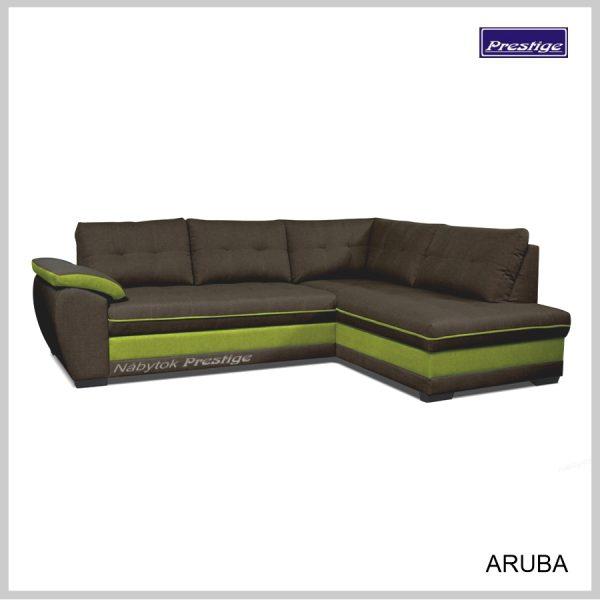 Aruba rohová sedačka hnedo zelená