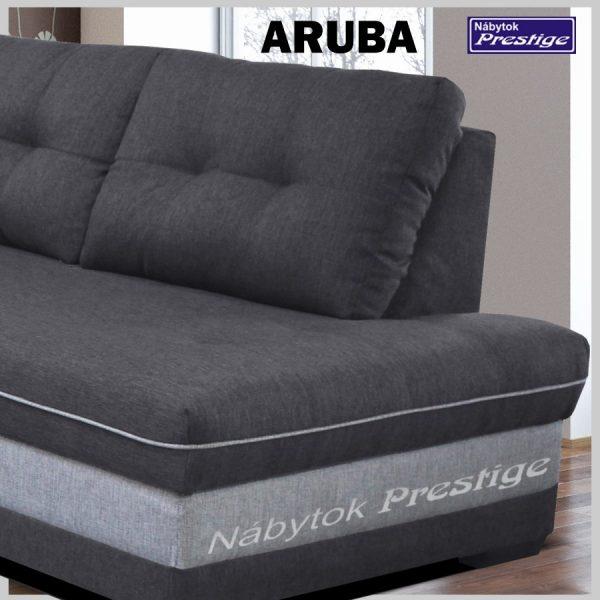 ARUBA rohová sedačka sivá detail otoman