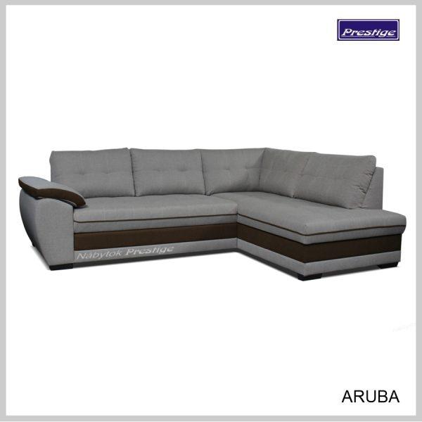 Aruba rohová sedačka sivo hnedá