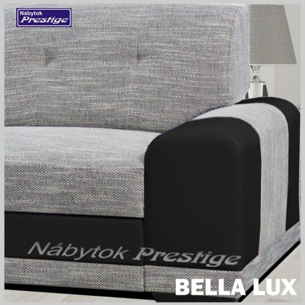 BELLA LUX sedačka rohová sivá detail madlo