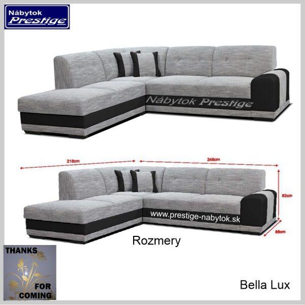 Bella Lux Sedačka rohová rozmery