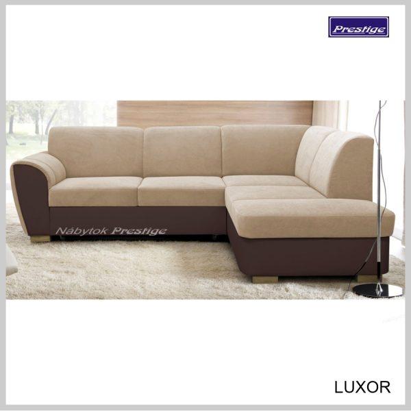 Luxor sedačka rohová rozkladacia hnedá