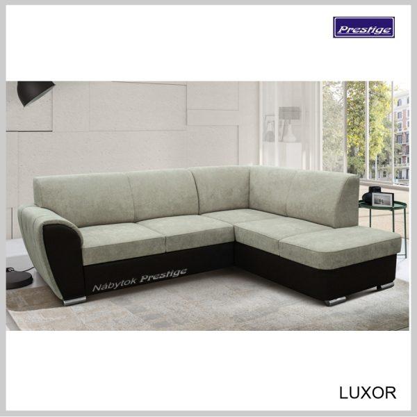 Luxor sedačka rohová zeleno čierna