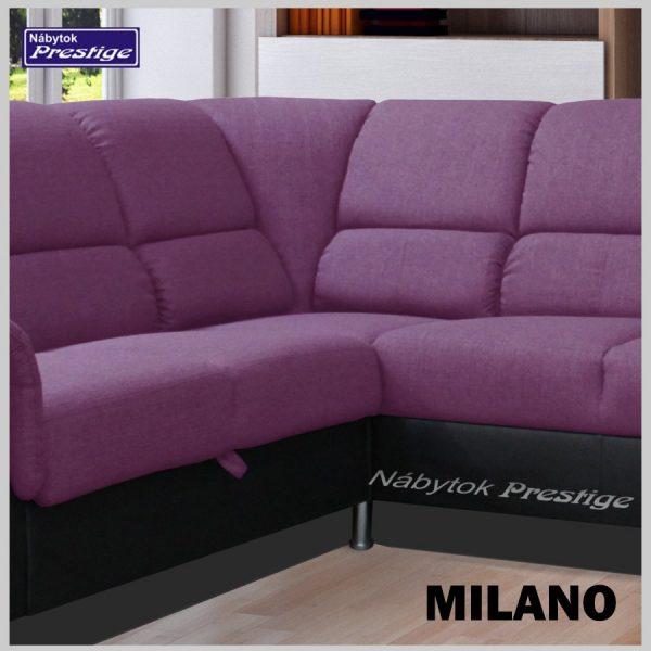 MILANO rohová sedačka fialová detail roh