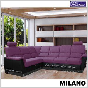 MILANO rohová sedačka rozkladacia fialovo čierna