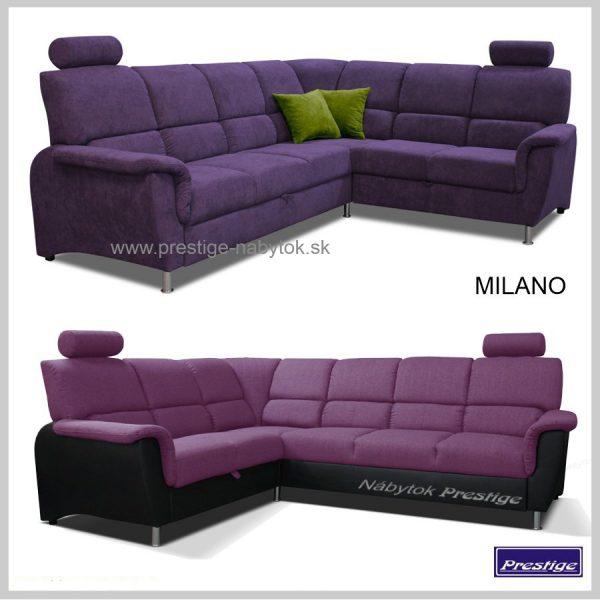 MILANO sedacie súpravy rohové fialové