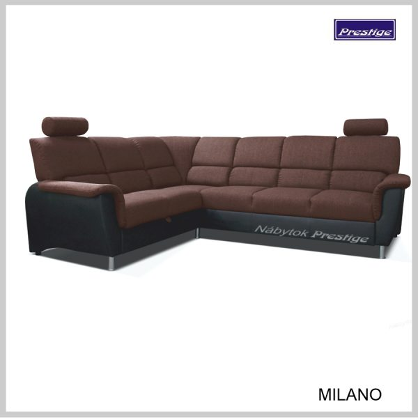 Milano Rohová Sedacia súprava hnedá