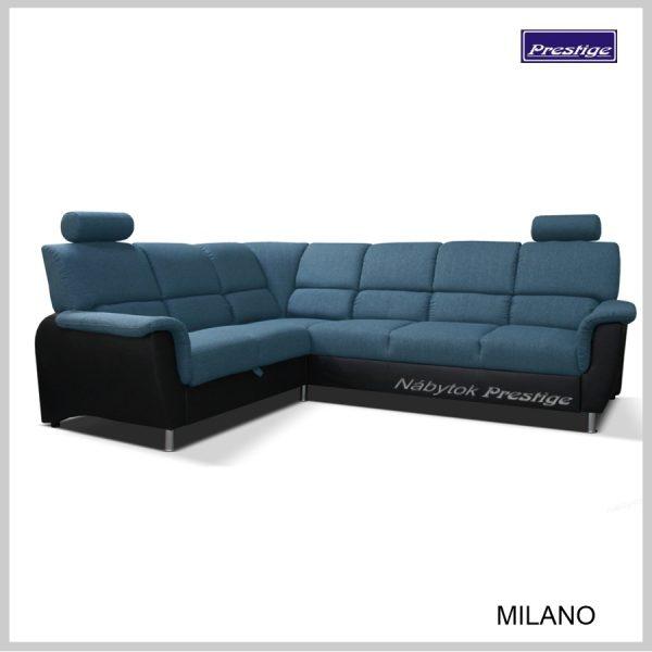 Milano Rohová Sedačka rozkladacia modro čierna