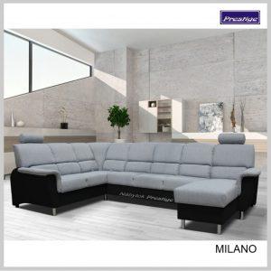 Milano Sedacia súprava tvar U sivá