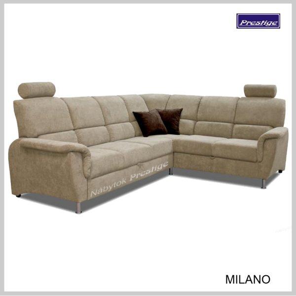 Milano Sedačka rohová hnedá