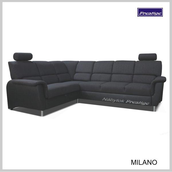 Milano sedacia súprava Rohová rozkladacia čierna