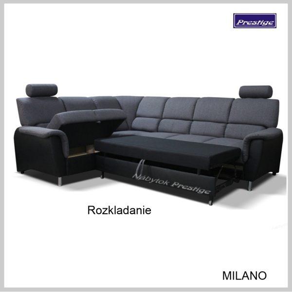 Milano sedacia súprava Rohová rozkladacia Rozkladanie