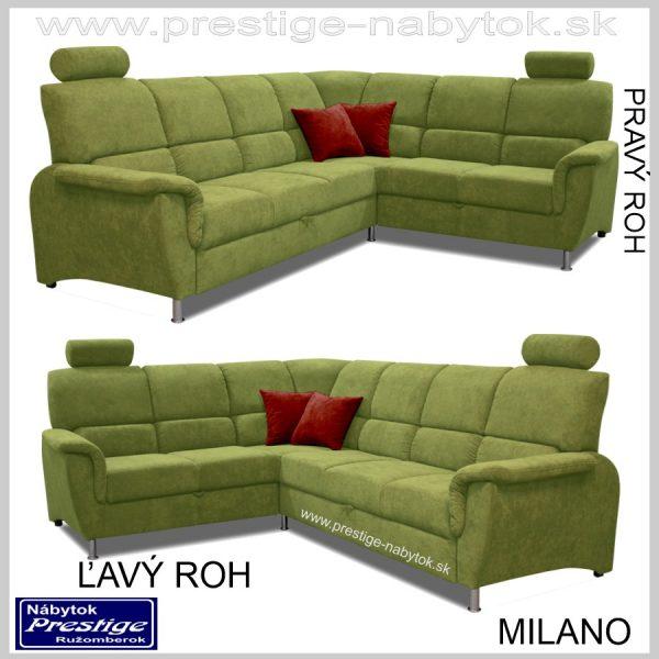 Milano sedačka Pravý Ľavý roh