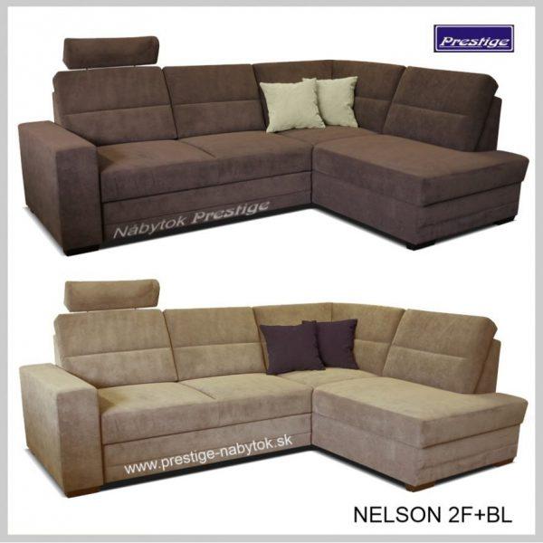 Nelson 2FBL sedacie súpravy rohové hnedé