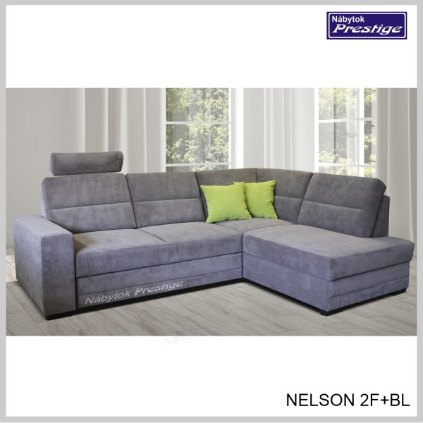 Nelson 2FBL veľký roh Rozkladacia sedacia súprava sivá
