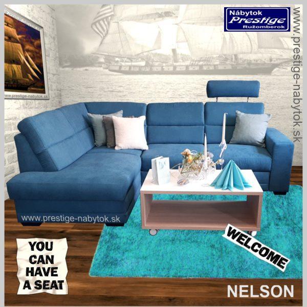 Nelson sedacia súprava rohová rozkladacia