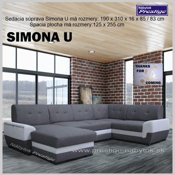 SIMONA U sedačka tvar U