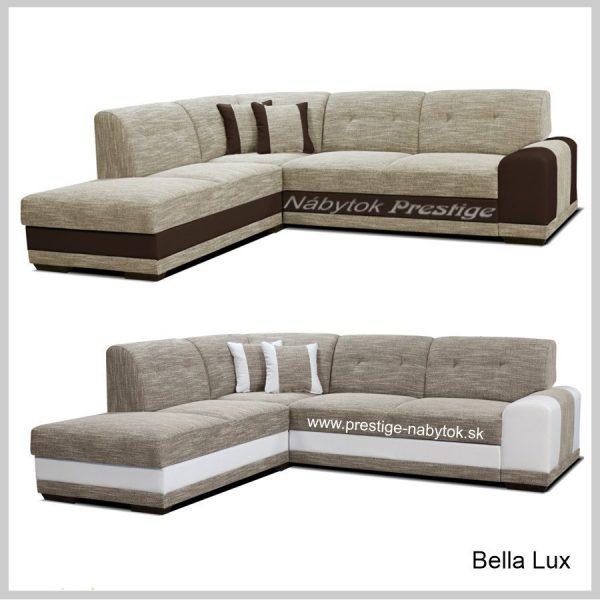 Sedačky Bella Lux rohové hnedé