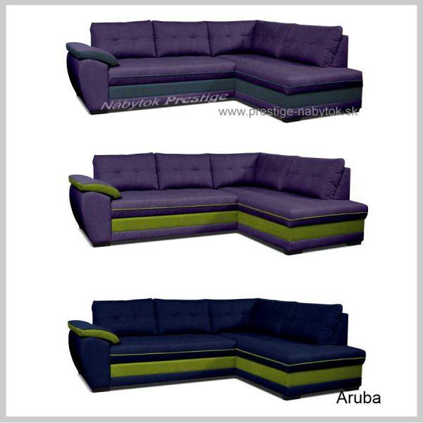 Sedačky Aruba fialové a modrá
