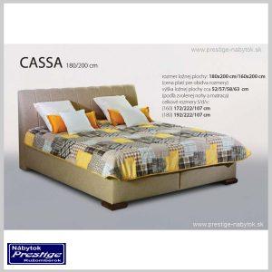 Cassa posteľ hnedá rozmery