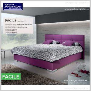 Facile posteľ fialová rozmery
