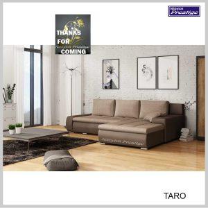 Taro rohová sedačka hnedá