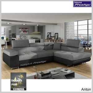 Anton sedačka rohová sivá