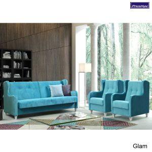 Glam Sedacia súprava prevedenie modrá