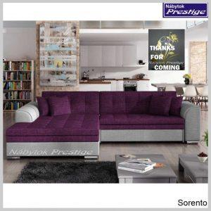 Sorento sedačka rohová fialová