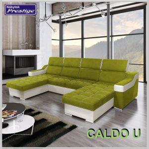Caldo U sedacia súprava tvar U Lux zelená