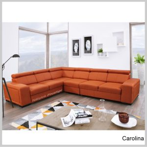 Carolina sedacia súprava rohová Sawana orange