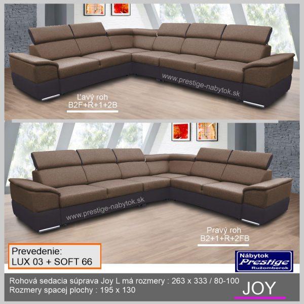 Sedačka Joy Lux 03 hnedá ľavý pravý roh