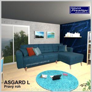 Asgard sedacia súprava rohová rozkladacia modrá