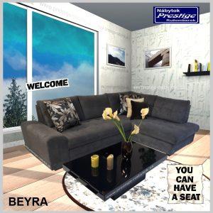 Beyra sedacia súprava rohová sivá